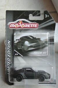 PORSCHE GT3 MATT BLACK #9/9 DIECAST MAJORETTE SCALE 1/59 NEW