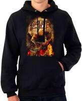 Slayer Fire Flames Skull Heavy Thrash Metal Hard Rock Music Band Hoodie SLA10425