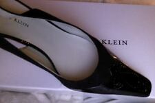 """ANNE KLEIN """"NEW"""" SUEDE AND PATENT LEATHER SLINGBACK HEELS SIZE 7 1/2"""