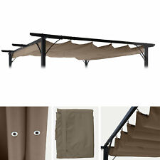 Ersatzbezug 320x250cm für Dach Pergola Pavillon MCW-C42 3x3m, taupe