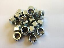 (QTY 10) M7 NYLOC NUTS TYPE T DIN 985 NYLON INSERT NUTS STEEL ZINC PLATED