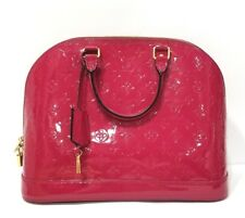 Authentic Louis Vuitton Indian Rose Alma PM Patent Leather Bag