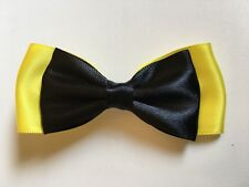 The Wiggles Emma Wiggle Inspired Hair Bow Clip Black & Yellow Handmade Baby&Girl