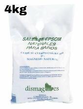 Sac Sel d'Epsom 4 Kg, Source concentrée de Magnésium, Sel 100% Naturel. Bain