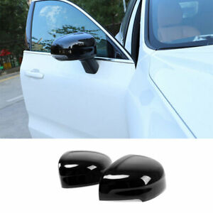 Gloss Black Rear View Side Door Mirror Cover Trim For Volvo XC60 2018-2021