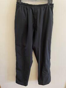 Footjoy Dryjoys Rain Golf Pants BLACK Elastic Waist Mens Sz Medium x 31 Inseam