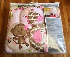 "Carter's Jungle Collection 7 Piece Crib Bedding Set Nursery  ""NEW"""