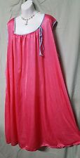 "COMFORT CHOICE ABOVE ANKLE SEXY COMFY PINK NIGHTGOWN SLEEVELESS SZ 4X 72"" BUST"