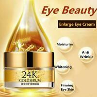 24K Gold Serum Anti Eye Cream Remove Dark Circles Skin Care Beauty