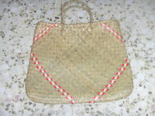 Brand New Handmade Handheld Straw Tote Bag for cheap sale