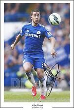 Eden Hazard Chelsea FC  Signed Autograph Photo, First Generation Reprint A4