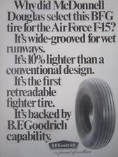 10/1971 PUB BF GOODRICH TIRE PNEU MCDONNELL DOUGLAS F-15 USAF ORIGINAL AD