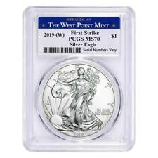 2019 American Silver Eagle $1 MS70 PCGS First Strike - Struck at West Point