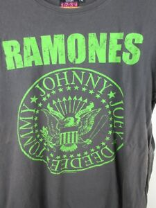 Ramones 2010 Mens T Shirt Size XL Crew Neck Short Sleeve Grey Graphics Print
