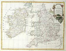 1784 Fine ZATTA map ENGLAND IRELAND Great Britain - Original Antique - Nice cond