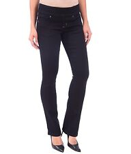 LOLA jeans mid rise pull on boot cut black jeans size 8  / 30