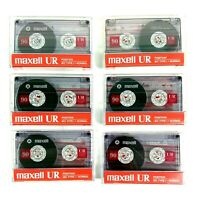 Maxell UR 90 Minute NEW Blank Cassette Tape Lot of 6 IEC Type 1 Normal