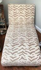 Chaise Lounge Chair Cream/Gold