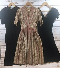 Vintage 1950s Womens Lot of 3 Dresses Fits Size XS