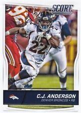 2016 Score Football Trading Card #97 C.J. Anderson