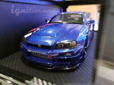 Ignition Model 1/18 Nismo R34 GT-R R-Tune Bayside Blue Ig1827 Nissan no autoart