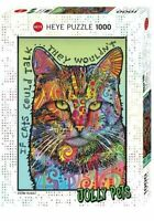 Heye Puzzles - 1000 Piece Jigsaw Puzzle ,  If Cats could Talk HY29893