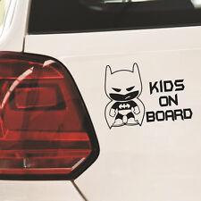"1pc Hot Batman ""Kid on Board"" Auto Vinyl Sticker Window Car Bumper Sticker Black"