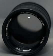 M42 VIVITAR AUTO TELEPHOTO f/2.8 135mm SCREW Mount Yashica Pentax Zenit Lens
