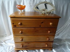 Antique Victorian Style 4 Drawer Chest Of Drawers On Bun Beet Bedroom Furniture