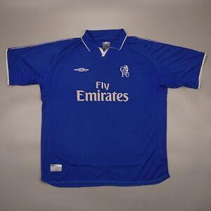 Vintage Chelsea 2001 2003 Home Football Soccer Shirt Jersey Camiseta Umbro Kit
