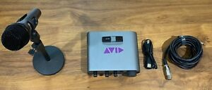 Avid MBox 3 Mini USB Audio Interface with Microphone, Stand and XLR cable