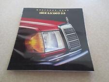 Original 1984 Mercedes cars advertising booklet - 190E 2.3 & 190D 2.2 series
