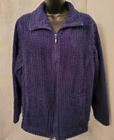 Breckenridge Womens Blue Corduroy Zipper Front Jacket Coat Size 1X