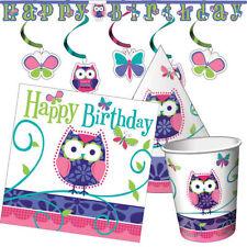 Artículos de fiesta de cumpleaños infantil de mariposas