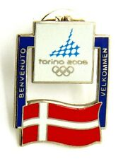 Pin Spilla Olimpiadi Torino 2006 Bandiere - Flag Denmark