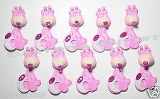 10 pc BABY SHOWER FAVORS FOAM GIRAFFE FAVORS RECUERDOS PINK PACIFIER PARTY GIFT