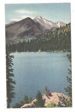 CO Rocky Mountain National Park Antique Post Card Bear Lake UNION PACIFIC RR