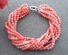 9Strds Pink Coral Bracelet