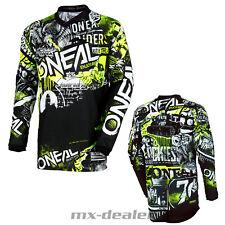 2021 O'Neal Element Kinder Jersey Attack Schwarz Trikot MX DH MTB BMX Motocross