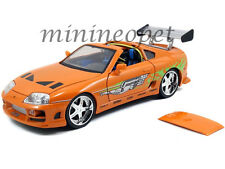 JADA 97505 THE FAST AND FURIOUS BRIAN'S TOYOTA SUPRA 1/18 DIECAST CAR ORANGE