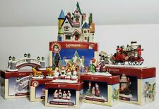 Collectible Lemax Hearthside Porcelain Holiday Christmas Lighted Village Set