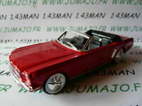 SOL50N Voiture 1/43 solido (Made in France) FORD mustang  1964 cabriolet