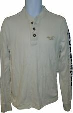USED Mens Hollister White Jumper Size Medium (R.M)