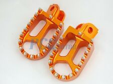 CNC RACING FOOTPEGS FOOTREST year of1998-2012 KTM 65-990 Dirt Bike ORANGE 9 FP13
