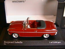 BORGWARD ISABELLA CABRIOLET 1959 ROT MINICHAMPS 400096060 1/43 RED ROADSTER