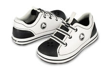 CROCS CROCBAND SNEAK KIDS TENNIS SHOES SNEAKER~White Black~Kids C 10~NEW
