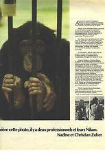 PUBLICITE ADVERTISING 1965   NIKON appareil phot avec NADINE &  CHRISTIAN ZUBER