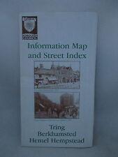 TRING BERKHAMSTED HEMEL HEMPSTEAD. INFORMATION MAP & STREET INDEX. DACORUM