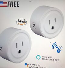 2x Wifi Smart Plug Switch Outlet Us Wireless Socket Work w/ Alexa Google Home