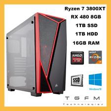 Ordinateur de Bureau Gaming Ryzen 7 3800 XT Rx 480 8GB 1TB SSD+ 1TB HDD 16GB RAM